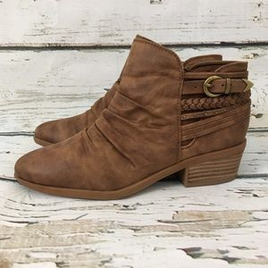 Bare Traps Brown Booties